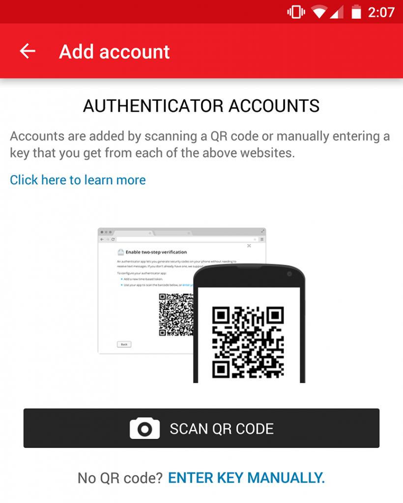 codigo de barras para google authenticator