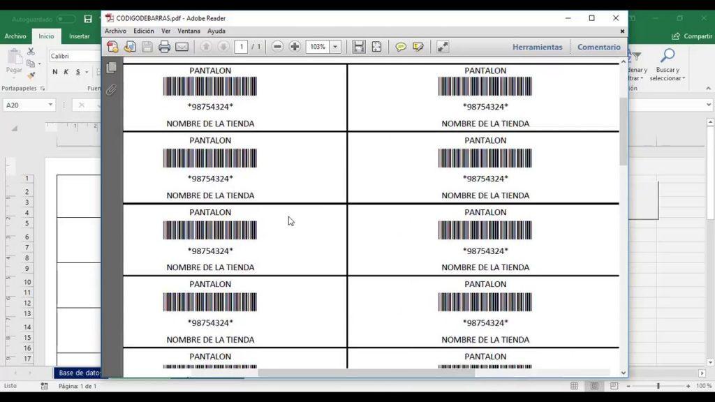 como crear un codigo de barras bidimensional
