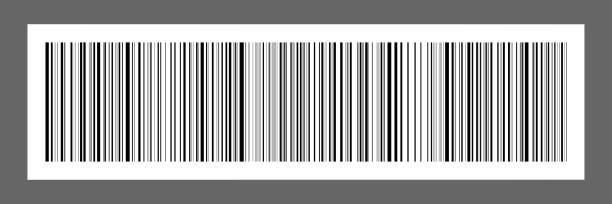 codigo de barras blanco vector
